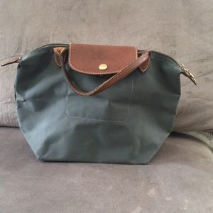 Longchamp Leather Trimmed Foldable Tote